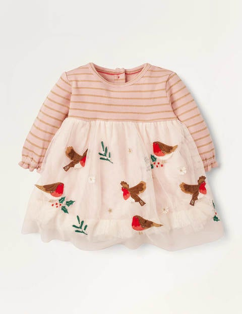 Magical Tulle Dress Pink Baby Boden, Gold